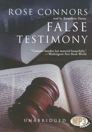 Cover of: False Testimony (Marty Nickerson Novels) | Rose Connors
