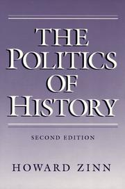 Cover of: The politics of history: with a new introduction