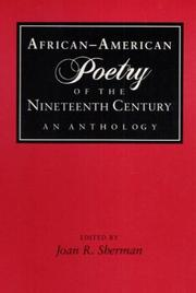 Cover of: African-American Poetry of the Nineteenth Century by Joan R. Sherman