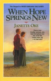 Cover of: When Hope Springs New (Canadian West #4)