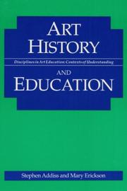 Cover of: Art history and education