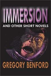 Cover of: Immersion and other short novels