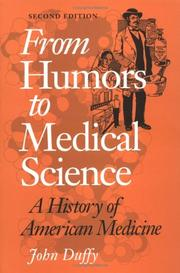 Cover of: From humors to medical science | Duffy, John