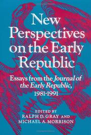 Cover of: New perspectives on the early republic
