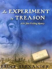Cover of: An Experiment in Treason (Sir John Fielding #9)