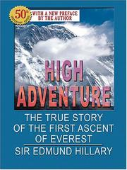 Cover of: High Adventure
