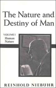 Cover of: Nature and Destiny of Man, vol. 1