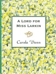 Cover of: A Lord for Miss Larkin