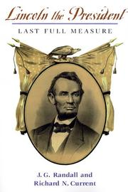 Cover of: Lincoln, the President