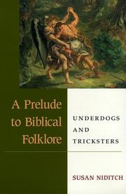 Cover of: A prelude to biblical folklore
