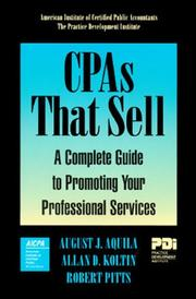 Cover of: CPAs that sell