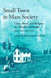 Cover of: Small town in mass society | Arthur J. Vidich