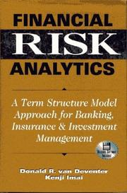 Cover of: Financial risk analytics