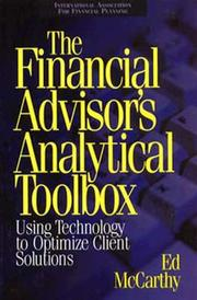 Cover of: The financial advisor's analytical toolbox