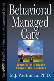 Cover of: Behavioral managed care