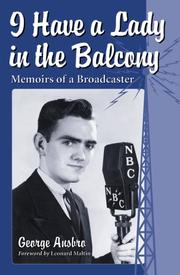 Cover of: I have a lady in the balcony
