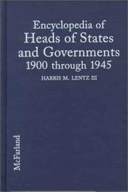 Cover of: Encyclopedia of heads of states and governments, 1900 through 1945