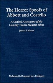 Cover of: The horror spoofs of Abbott and Costello