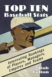 Cover of: Top ten baseball stats