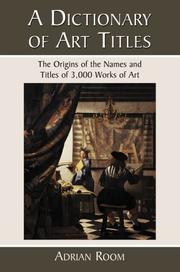 Cover of: A Dictionary of Art Titles: The Origins of the Names and Titles of 3,000 Works of Art