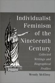 Cover of: Individualist Feminism of the Nineteenth Century