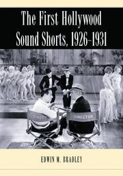 Cover of: The first Hollywood sound shorts, 1926-1931
