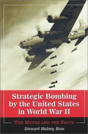 Cover of: Strategic Bombing by the United States in World War II
