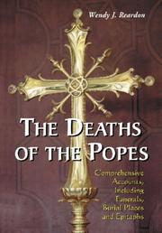 Cover of: The Deaths of the Popes | Wendy J. Reardon