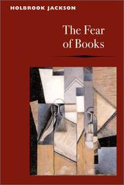 Cover of: The fear of books