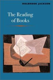 Cover of: The reading of books