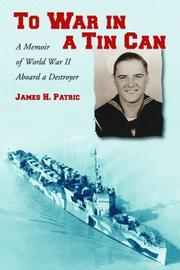 Cover of: To War in a Tin Can | James H. Patric