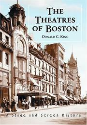 Cover of: The Theatres of Boston | King, Donald C.