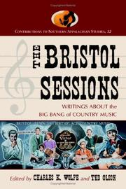 Cover of: The Bristol Sessions |