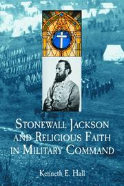 Cover of: Stonewall Jackson and religious faith in military command