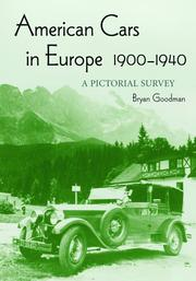 American cars in Europe, 1900-1940