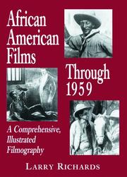 Cover of: African American Films Through 1959: A Comprehensive, Illustrated Filmography