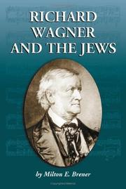 Cover of: Richard Wagner and the jews