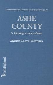 Cover of: Ashe County |