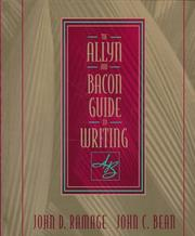 Cover of: Allyn & Bacon Guide to Writing, The | John D. Ramage