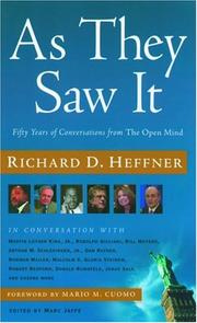 Cover of: As They Saw It