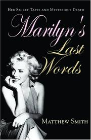 Cover of: Marilyn's Last Words