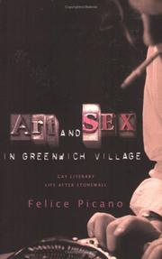 Cover of: Art and sex in Greenwich Village |