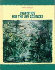 Cover of: Statistics for the life sciences