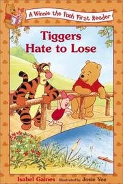 Cover of: Tiggers hate to lose