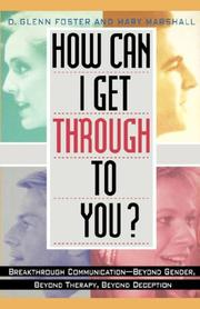 Cover of: How can I get through to you? | D. Glenn Foster