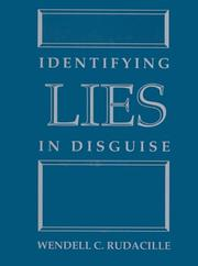 Cover of: Identifying Lies in Disguise | Wendell C. Rudacille