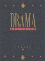 Cover of: Drama Criticism | Linda Pavlovski
