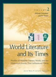 Cover of: African literature and its times