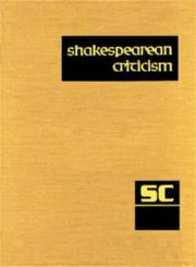 Cover of: SC Volume 63 Shakespearean Criticism | Michelle Lee