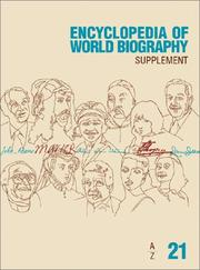 Cover of: Encyclopedia of World Biography (Encyclopedia of World Biography Supplement) |